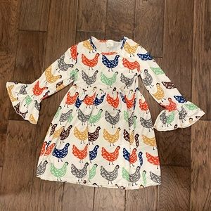 Size XL (6/7) Honeydew Long Sleeve Rooster Dress